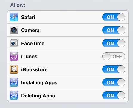 отключить опцию iTunes