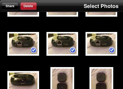 нажмите кнопку поделиться в верхнем левом углу экрана