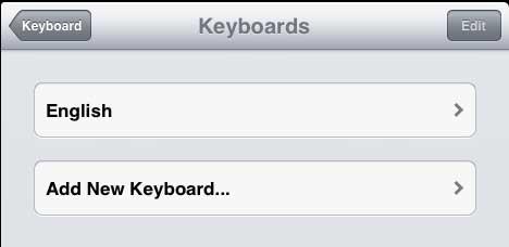 как добавить новую клавиатуру