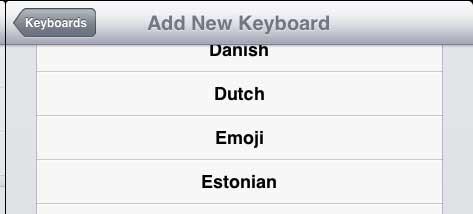 выберите вариант Emoji