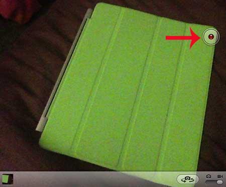 нажмите кнопку записи, чтобы начать запись видео Ipad