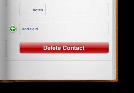 нажмите кнопку удаления контакта