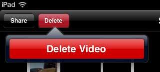 как удалить записанное видео на ipad 2