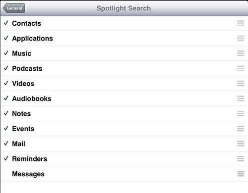 Удалить сообщения из поиска Spotlight