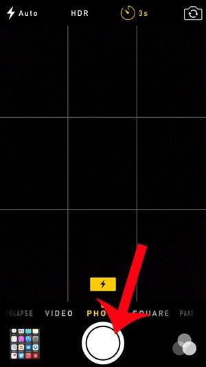 нажмите кнопку спуска, чтобы включить таймер камеры