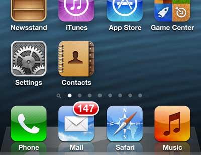 как добавить значок контактов на домашний экран iphone 5