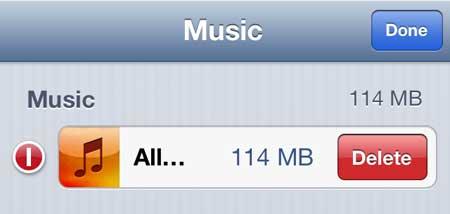 как удалить все песни на iphone 5