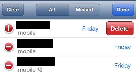 как удалить звонок из своей истории на iphone 5