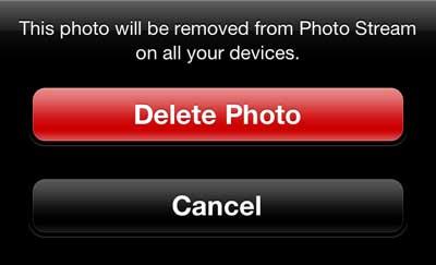 Нажмите кнопку Удалить фото