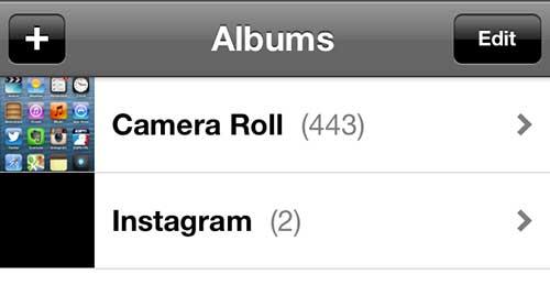 Откройте камеру Roll