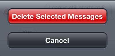 как удалить текстовые сообщения на iphone 5