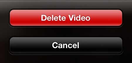 как удалить записанное видео на iphone 5
