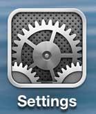 откройте меню настроек на iphone 5
