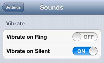 остановить iphone 5 от вибрации, когда он звонит