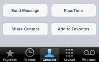 как отправить контактную информацию по электронной почте на iphone 5