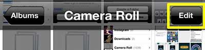 нажмите кнопку редактирования в верхней части экрана