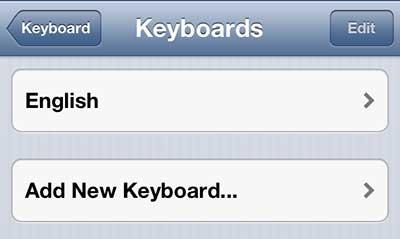 Добавить новую клавиатуру