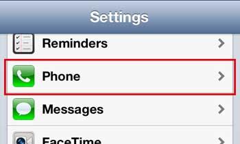 откройте меню телефона iphone 5