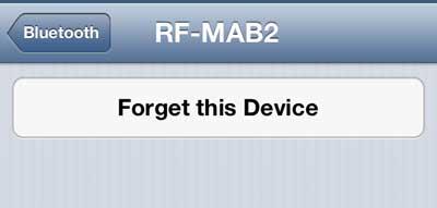 как забыть блютуз устройство на iphone 5
