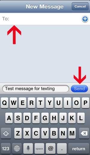 отправить текстовое сообщение