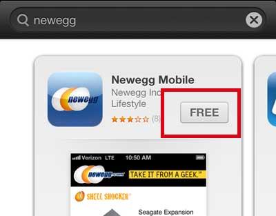 нажмите кнопку «бесплатно» или «цена»