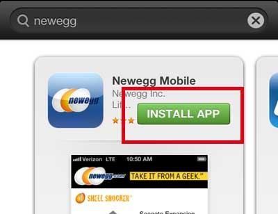 нажмите кнопку установить приложение