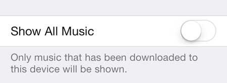 как перестать показывать облачную музыку в ios 7 на iphone 5