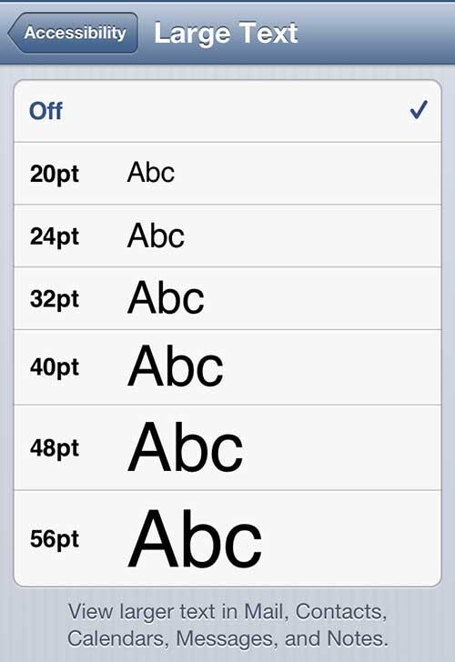 Выберите размер шрифта