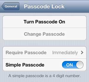 Коснитесь параметра Включить пароль