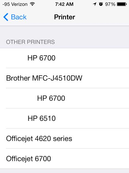 прикоснуться к кнопке Brother MFC-J4510DW