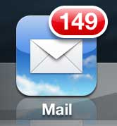 откройте почтовое приложение iphone