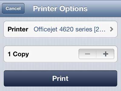 как распечатать письмо на iphone 5