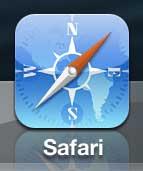 запустить браузер Safari