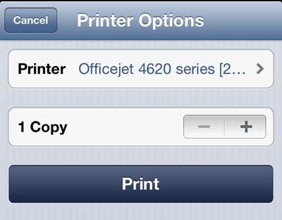 как распечатать веб-страницу с iphone 5