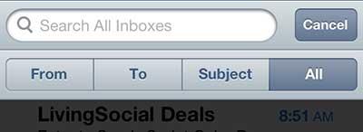 как искать почту на iphone 5