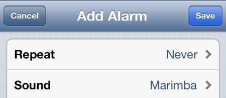 как установить будильник на iPhone 5