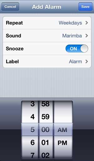 установить остальные параметры будильника