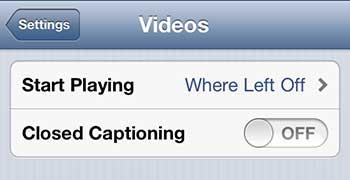 отключить субтитры на iphone 5