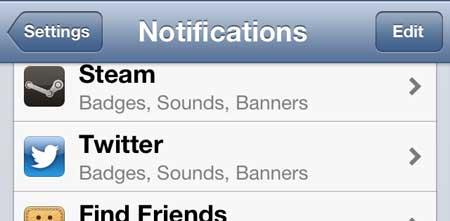 как удалить твиттер из центра уведомлений на iphone 5
