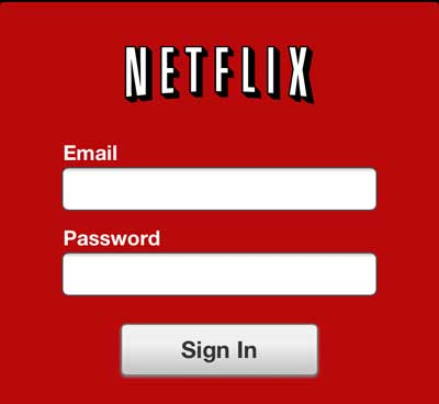введите адрес электронной почты и пароль, связанные с вашей учетной записью Netflix