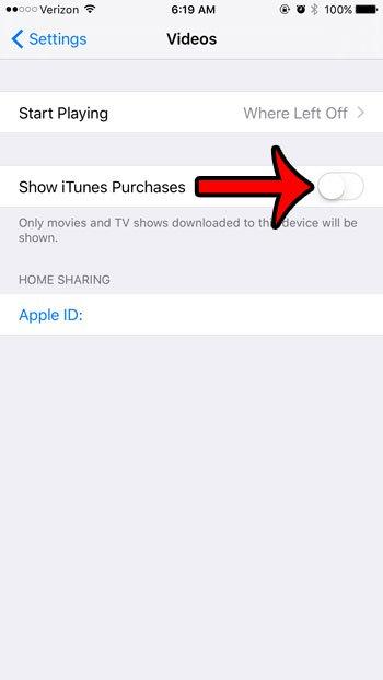показывать только загруженные фильмы на iphone