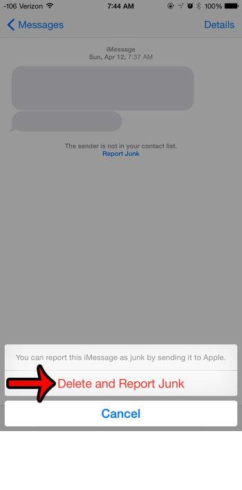 удалить и сообщить о спаме