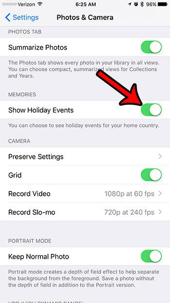 как показать праздничные события в фотографиях iphone