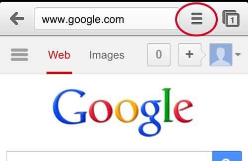 открыть меню настроек Chrome