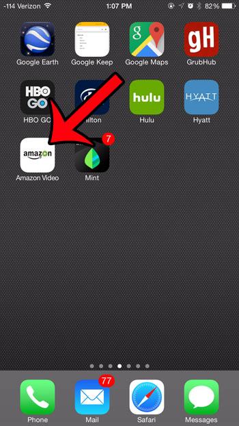откройте видео приложение Amazon