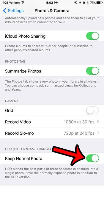 сохранить нормальное фото, когда HDR