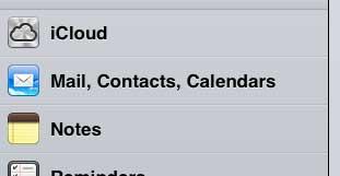 открыть меню iPad icloud