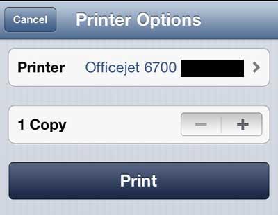 печать с iphone на officejet 6700