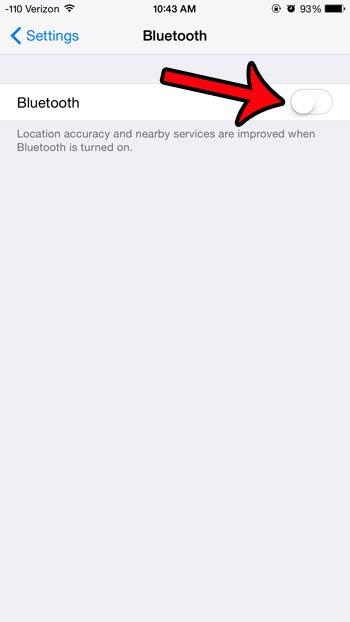 отключить функцию Bluetooth