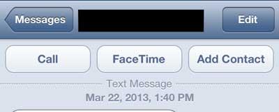 как создать контакт из текстового сообщения на iphone 5